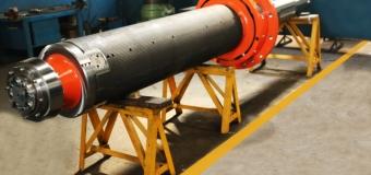 MANDRIL Ø 609,6 x 2300 x 5480 mm – COLAR Ø 1117 mm – 8400 kg PARA BOBINADEIRA DE LAMINADOR A QUENTE TIPO TANDEM